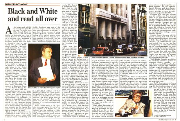 Article Preview: Black and White and read all over, June 1987 | Maclean's