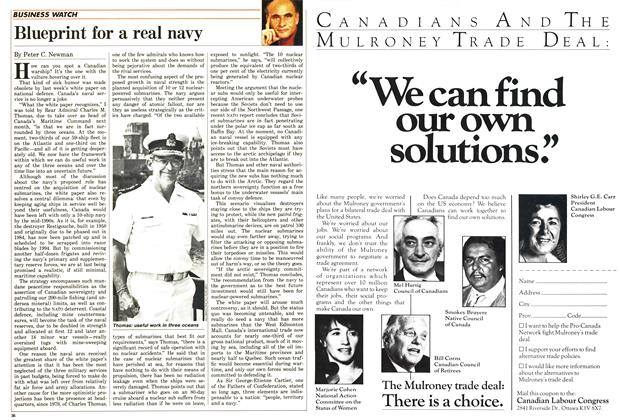 Article Preview: Blueprint for a real navy, June 1987 | Maclean's