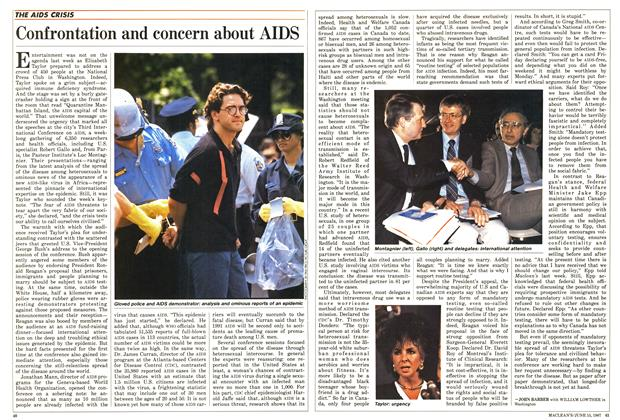 Article Preview: Confrontation and concern about AIDS, June 1987 | Maclean's