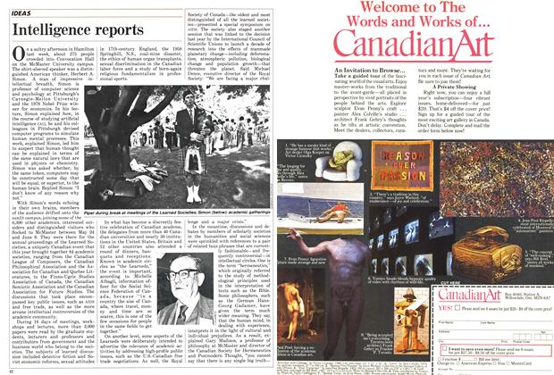 Article Preview: Intelligence reports, June 1987 | Maclean's