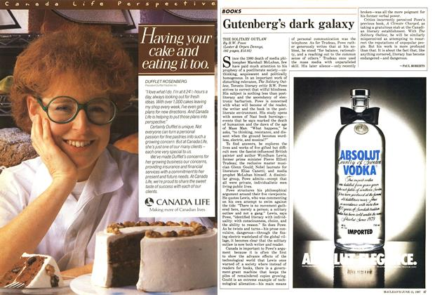 Article Preview: Gutenberg's dark galaxy, June 1987 | Maclean's