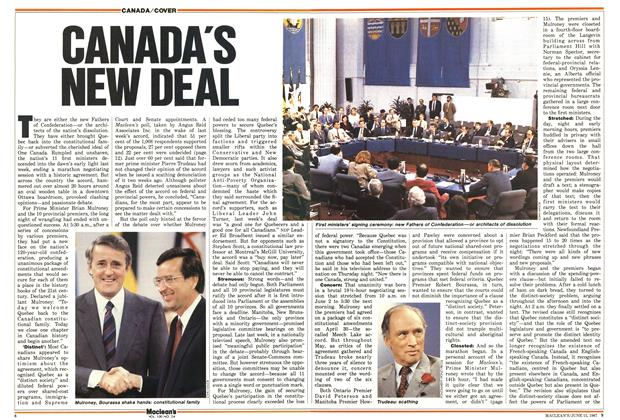 Article Preview: CANADA'S NEW DEAL, June 1987 | Maclean's