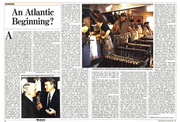 Article Preview: An Atlantic Beginning?, June 1987 | Maclean's