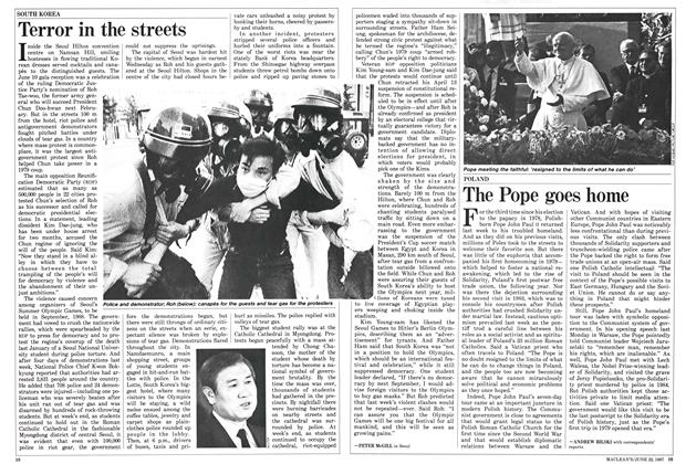 Article Preview: The Pope goes home, June 1987 | Maclean's