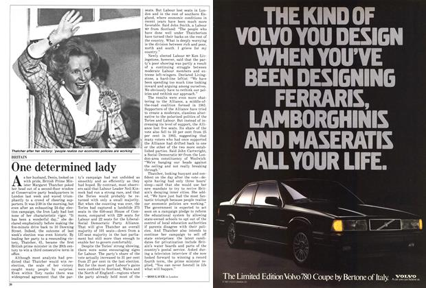Article Preview: One determined lady, June 1987 | Maclean's