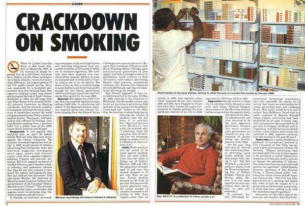 Article Preview: CRACKDOWN ON SMOKING, June 1987 | Maclean's