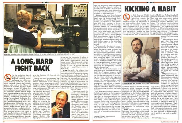Article Preview: KICKING A HABIT, June 1987 | Maclean's