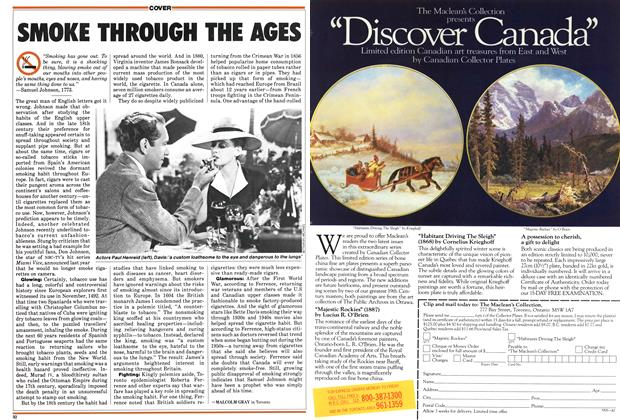 Article Preview: SMOKE THROUGH THE AGES, June 1987 | Maclean's