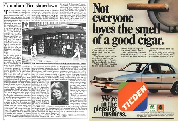 Article Preview: Canadian Tire showdown, June 1987 | Maclean's
