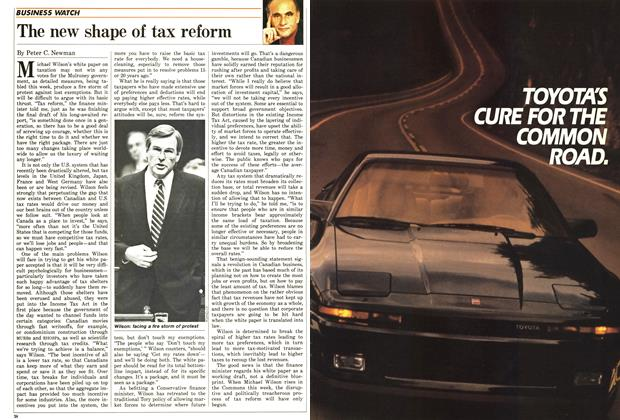 Article Preview: The new shape of tax reform, June 1987 | Maclean's