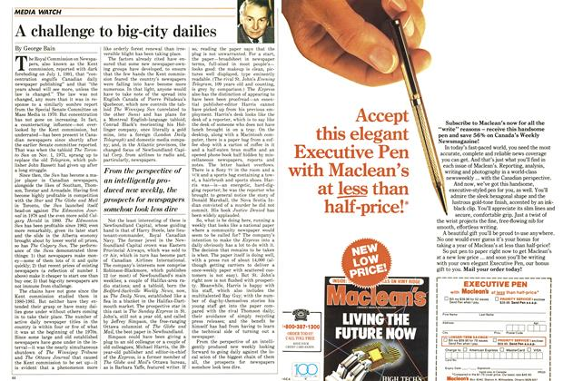 Article Preview: A challenge to big-city dailies, June 1987 | Maclean's