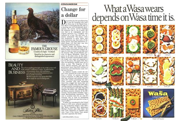 Article Preview: Change for a dollar, June 1987 | Maclean's