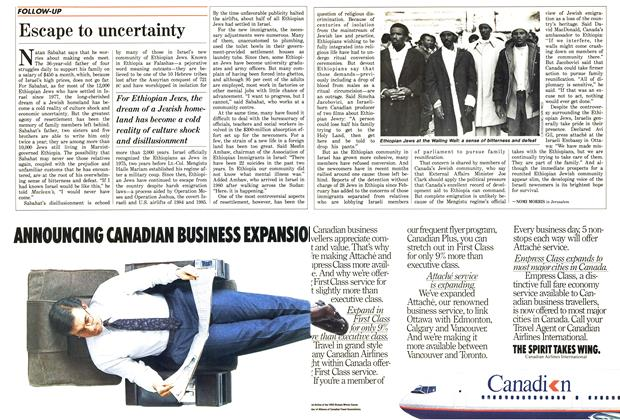 Article Preview: Escape to uncertainty, June 1987 | Maclean's