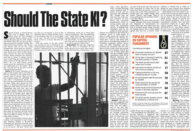 Article Preview: Should The State KI?, June 1987 | Maclean's