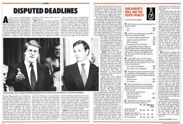 Article Preview: DISPUTED DEADLINES, June 1987 | Maclean's