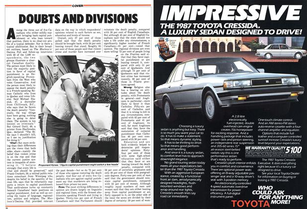Article Preview: DOUBTS AND DIVISIONS, June 1987 | Maclean's