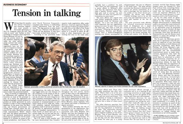 Article Preview: Tension in talking, June 1987 | Maclean's