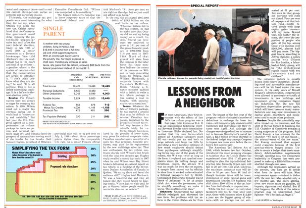 Article Preview: LESSONS FROM A NEIGHBOR, June 1987 | Maclean's