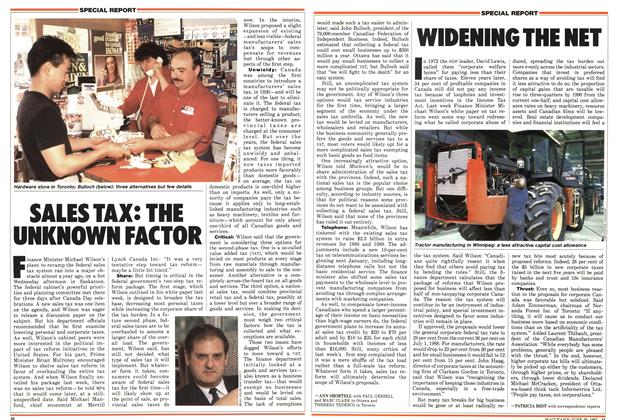 Article Preview: WIDENING THE NET, June 1987 | Maclean's