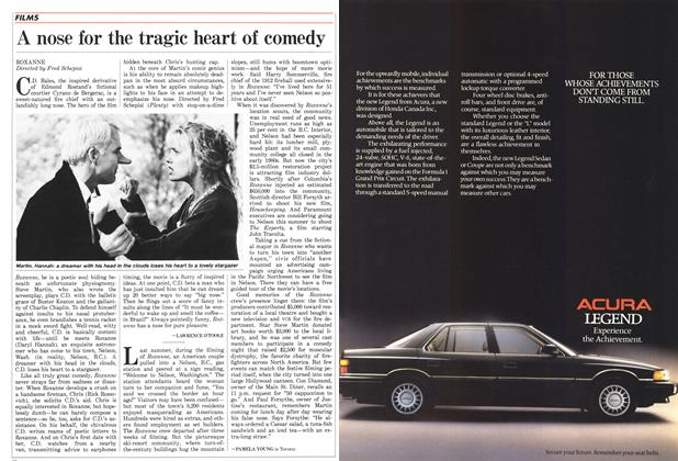 Article Preview: A nose for the tragic heart of comedy, June 1987 | Maclean's