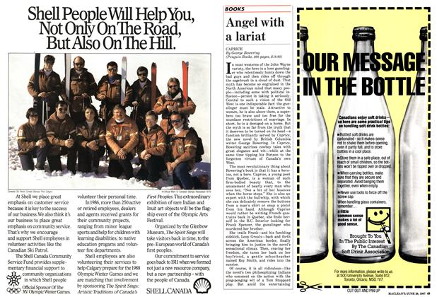 Article Preview: Angel with a lariat, June 1987 | Maclean's