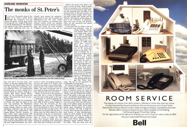 Article Preview: The monks of St. Peter's, June 1987 | Maclean's