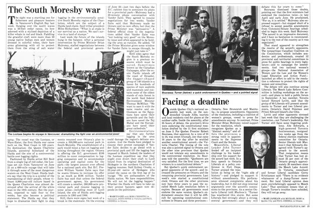Article Preview: Facing a deadline, July 1987 | Maclean's