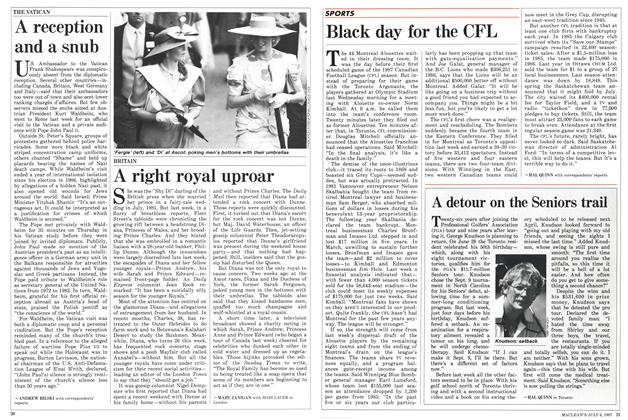 Article Preview: Black day for the CFL, July 1987 | Maclean's