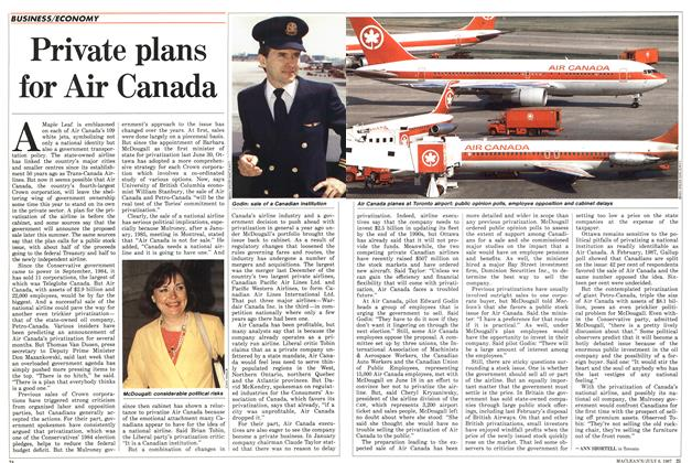 Article Preview: Private plans for Air Canada, July 1987 | Maclean's
