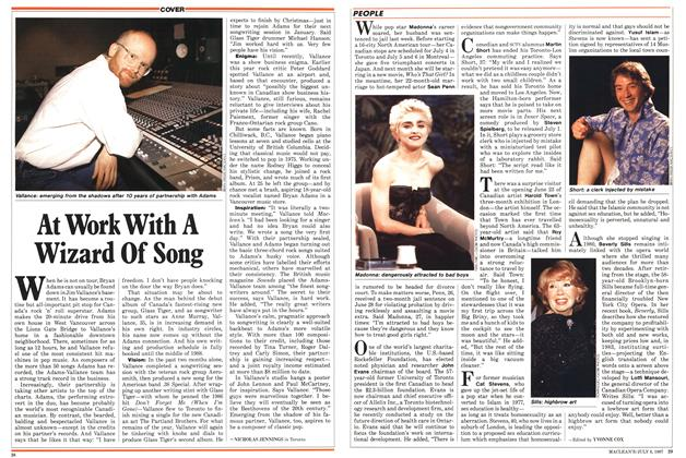 Article Preview: At Work With A Wizard Of Song, July 1987 | Maclean's