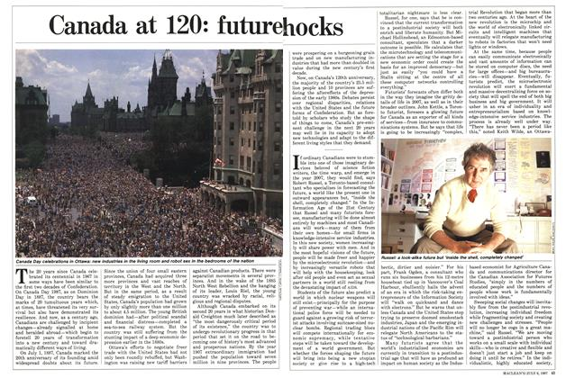 Article Preview: Canada at 120: future hocks, July 1987 | Maclean's