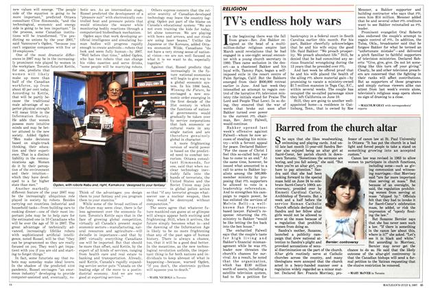 Article Preview: TV's endless holy wars, July 1987 | Maclean's