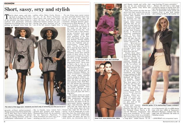 Article Preview: Short, sassy, sexy and stylish, July 1987 | Maclean's