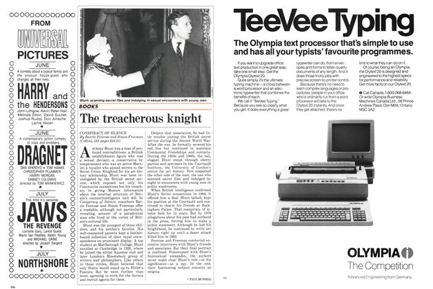 Article Preview: The treacherous knight, July 1987 | Maclean's