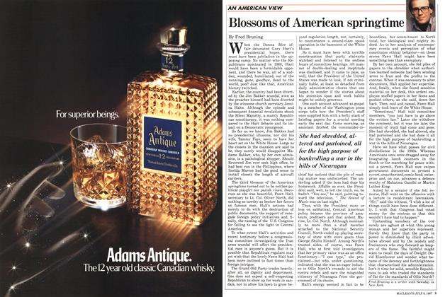 Article Preview: Blossoms of American springtime, July 1987 | Maclean's