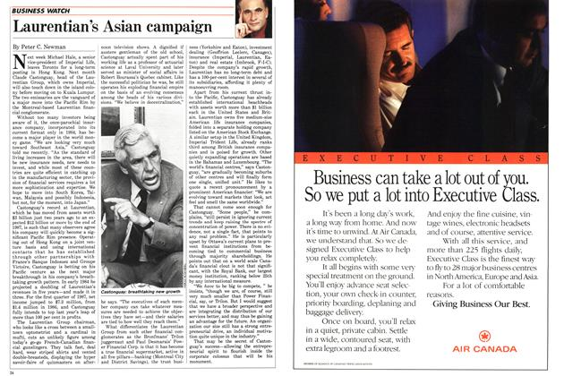 Article Preview: Laurentian's Asian campaign, July 1987 | Maclean's