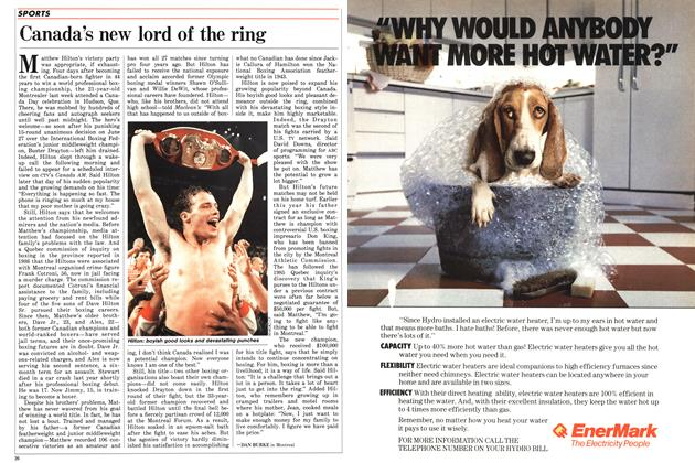 Article Preview: Canada's new lord of the ring, July 1987 | Maclean's