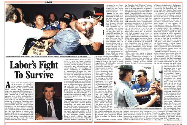 Article Preview: Labor's Fight To Survive, July 1987 | Maclean's