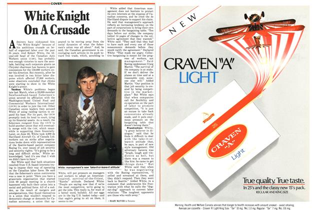 Article Preview: White Knight On A Crusade, July 1987   Maclean's