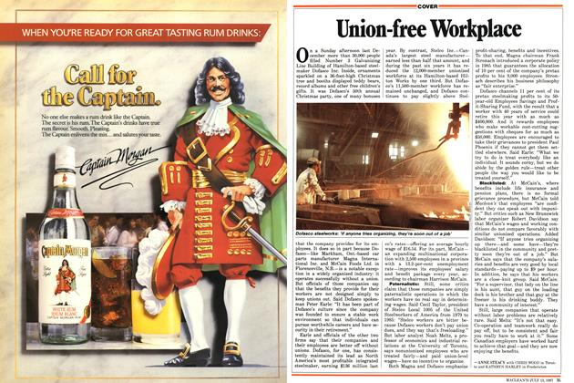 Article Preview: Union-free Workplace, July 1987 | Maclean's