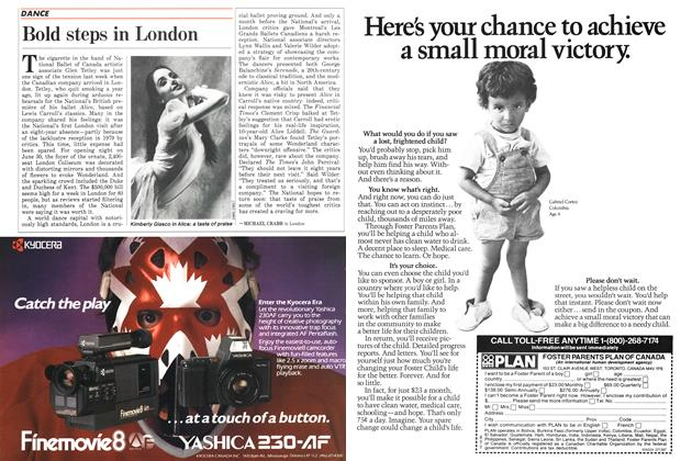 Article Preview: Bold steps in London, July 1987 | Maclean's