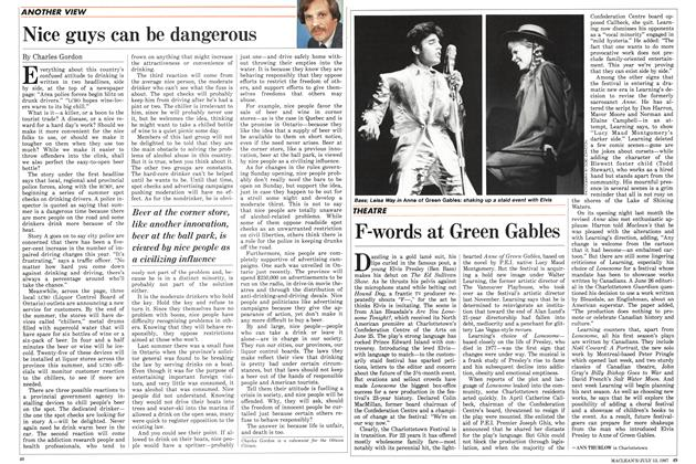 Article Preview: F-words at Green Gables, July 1987 | Maclean's