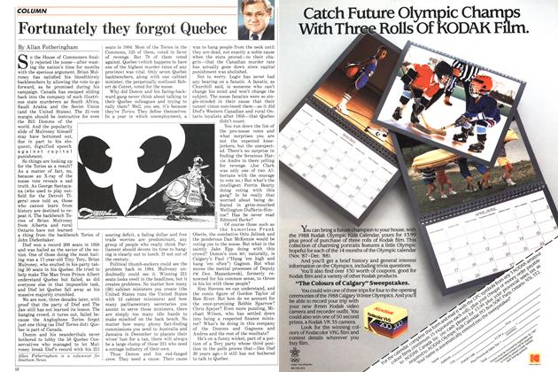 Article Preview: Fortunately they forgot Quebec, July 1987 | Maclean's