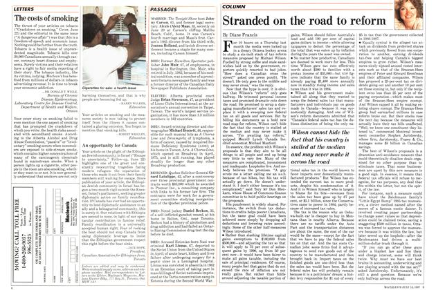 Article Preview: Stranded on the road to reform, July 1987 | Maclean's