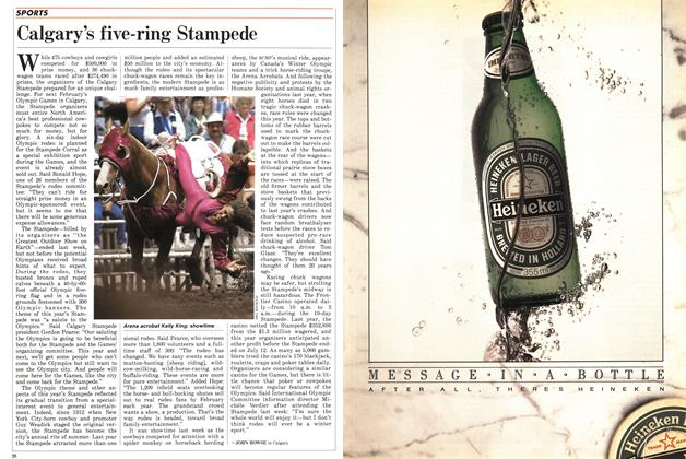 Article Preview: Calgary's five-ring Stampede, July 1987 | Maclean's