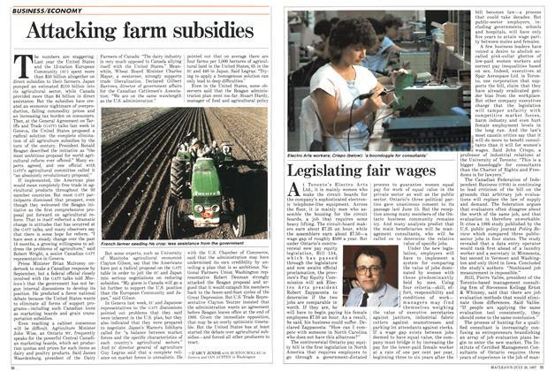 Article Preview: Legislating fair wages, July 1987 | Maclean's