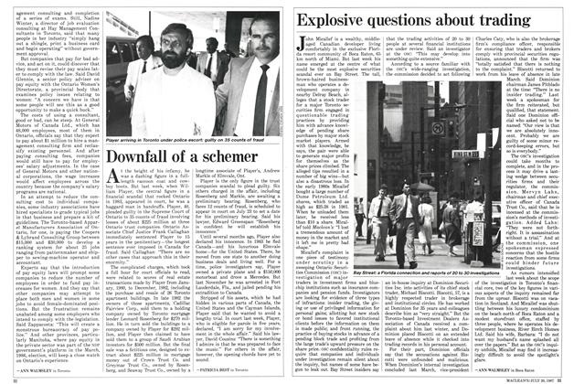 Article Preview: Downfall of a schemer, July 1987 | Maclean's