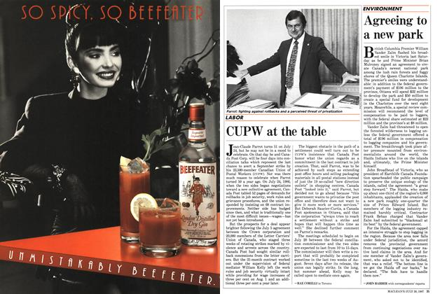 Article Preview: CUPW at the table, July 1987 | Maclean's