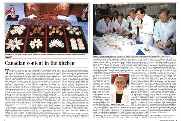 Article Preview: Canadian content in the kitchen, July 1987 | Maclean's