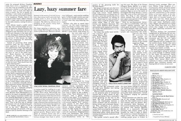 Article Preview: Lazy, hazy summer fare, July 1987 | Maclean's